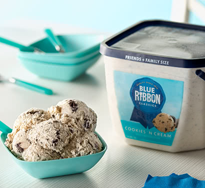 Blue Ribbon Classics Cookies and Cream Ice Cream